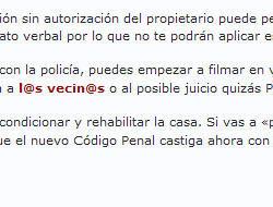 Hausbesetzung in Spanien / Besetzung des Eigentums in Spanien / Squatters in Spain