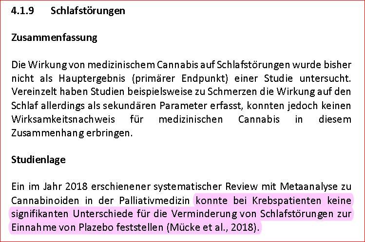 Cannabis Report 2018 6 Schlafstoerungen