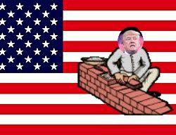 Amerikanische Mauer - Mexican border fence - eiserne Vorhang von Amerika