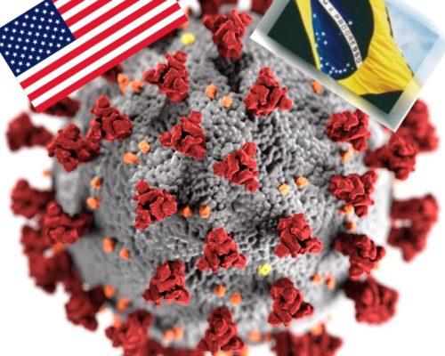 Corona USA und Brasilien